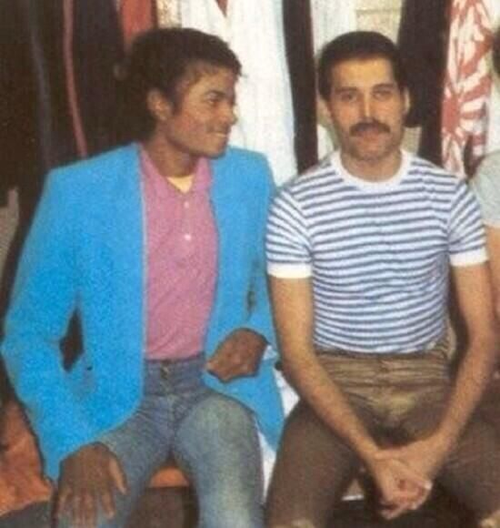 Michael Jackson and Freddie Mercury, 1980s
