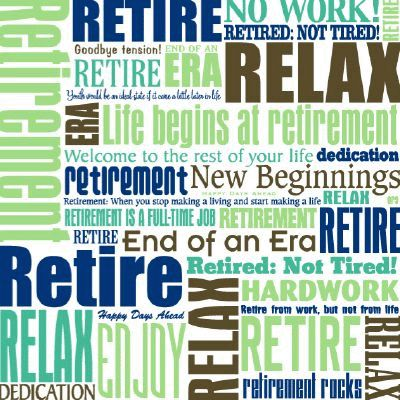 Retirement Rocks Scrapbook Paper