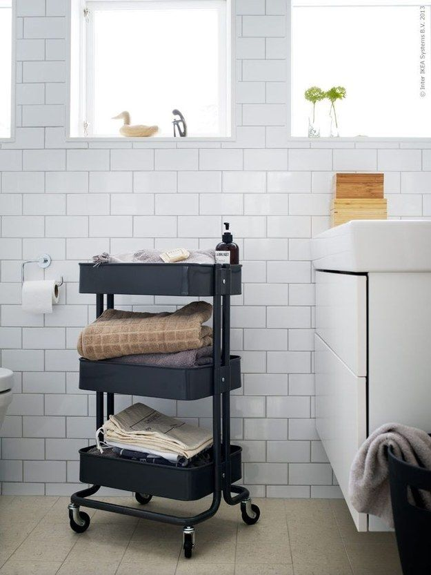 This Kitchen Cart Is The Only IKEA Item You Really Need http   www. 17 Best ideas about Bathroom Organisers on Pinterest   Ikea