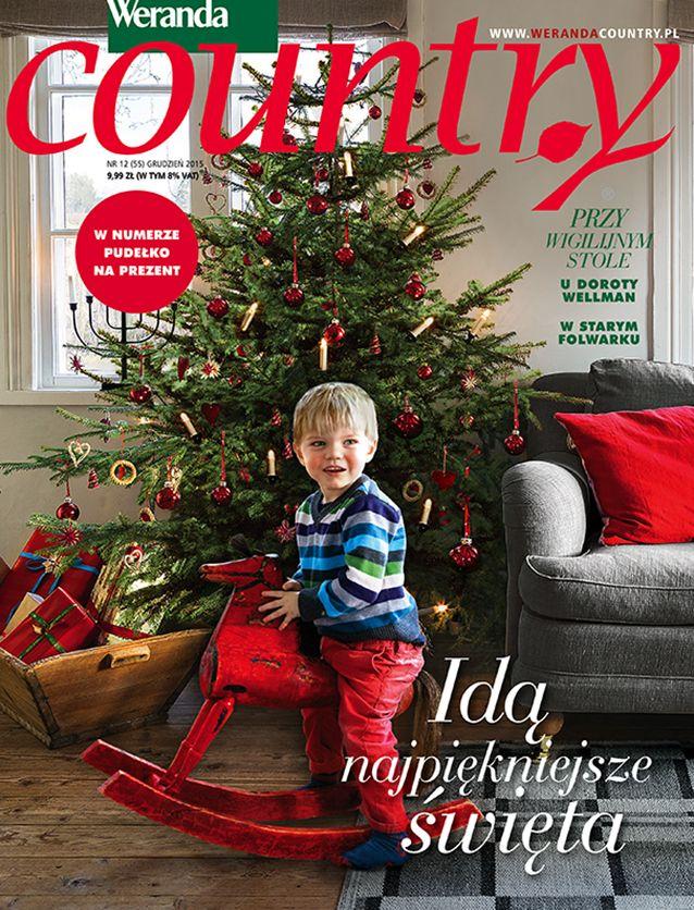 W grudniowym numerze Werandy Country ciepło, rodzinnie i świątecznie - piękne dekoracje bożonarodzeniowe, przepisy kulinarne, pieczenie pierniczków od kuchni, rozmowa z Dorotą Wellman, tajemnice karpi, wizyta w Folwarku Badowo, dom z widokiem na Mont Blanc, święta po szwedzku i o wiele, wiele więcej.