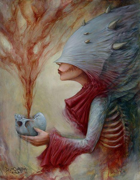 Pop surrealism, surrealism, lowbrow art, new contemporary art: Interview with dark horror pop surreal artist Dave Correia