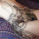 whole abdomen tattoos mandala - Google Search