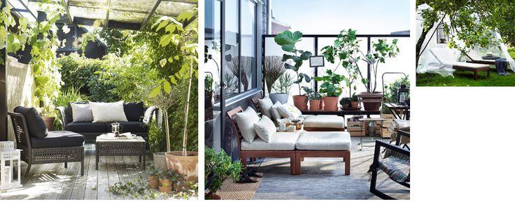 Collage med diverse utemiljø-bilder