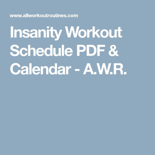 Best 25+ Insanity workout calendar ideas on Pinterest Insanity - insanity workout sheet