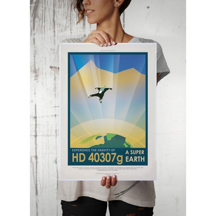 NASA/JPL - HD 40307g Poster  #destiny #mugs #posters #coffee #adultswim #netflix #gaming #rickandmorty #destiny2 #harrypotter