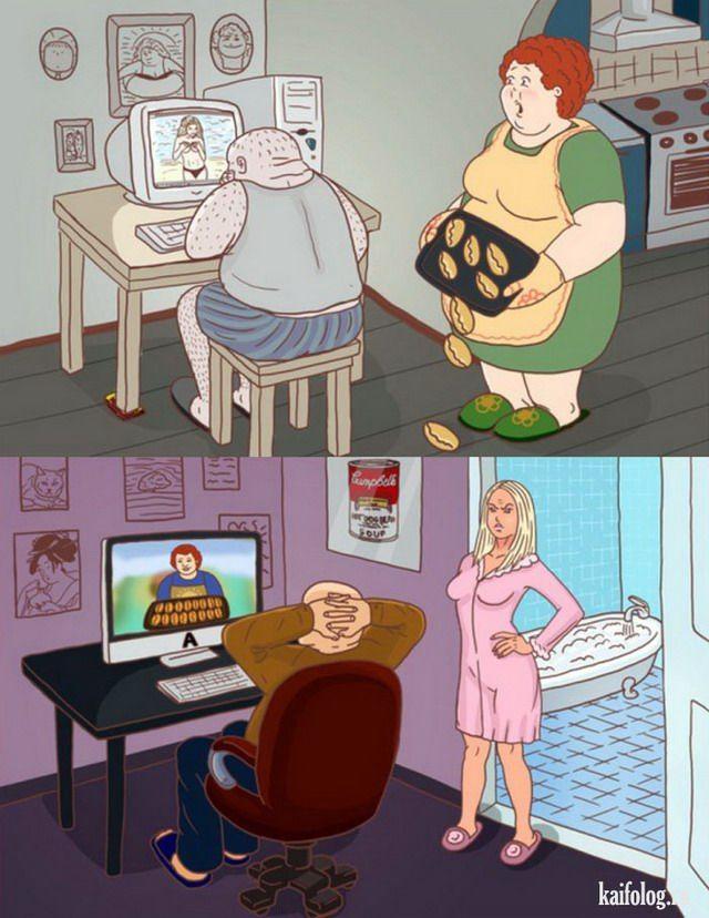 Для, жене смешные картинки