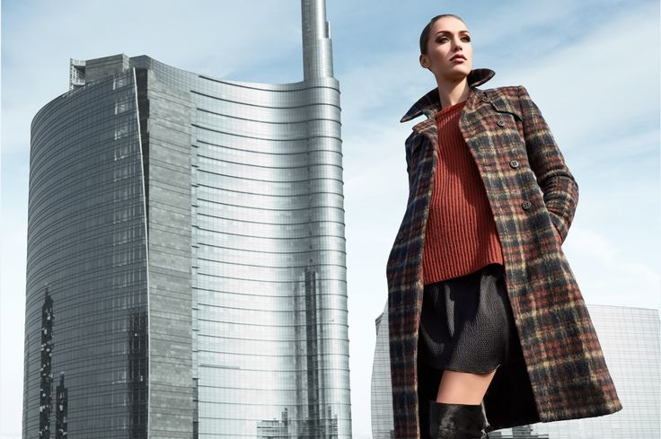 A woman who dares wearing men's clothes. Larusmiani FW1516 Campaign shot in Milan