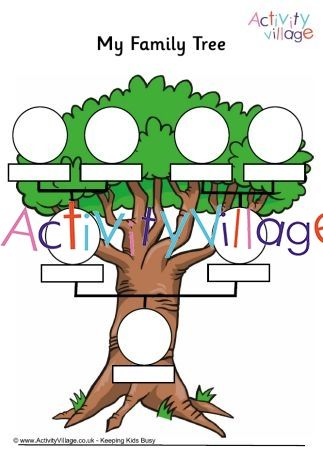 A Fun My Family Tree Printable For Children To Fill Out Diy