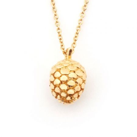 Pinecone Pendant Mini Gold