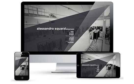 Design del sito Alessandro Squarzi Showroom