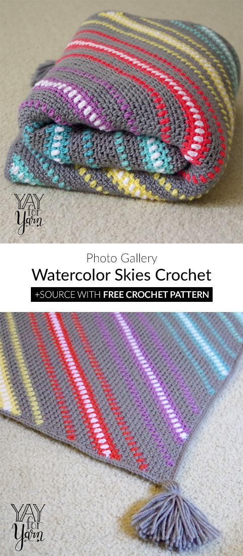 Watercolor Skies Afghan Blanket Crochet | Crochet | Pinterest