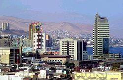Antofagasta - Vista desde el sur de Antofagasta.