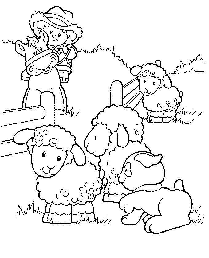 Little People Coloring Pages 4