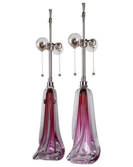 Val St Lambert Lamps  MidCentury Modern, Modern, Glass, Metal, Task Lighting  Desk Lamp by Remains Lighting