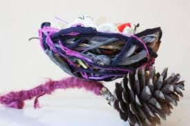 paper mache with natural material in it - Google Search
