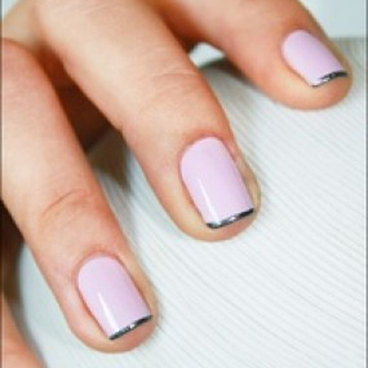 French manucure ongles courts