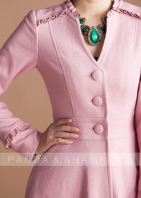 Pink lady/femmes vêtements/long manteau/haut par pandaandshamrock
