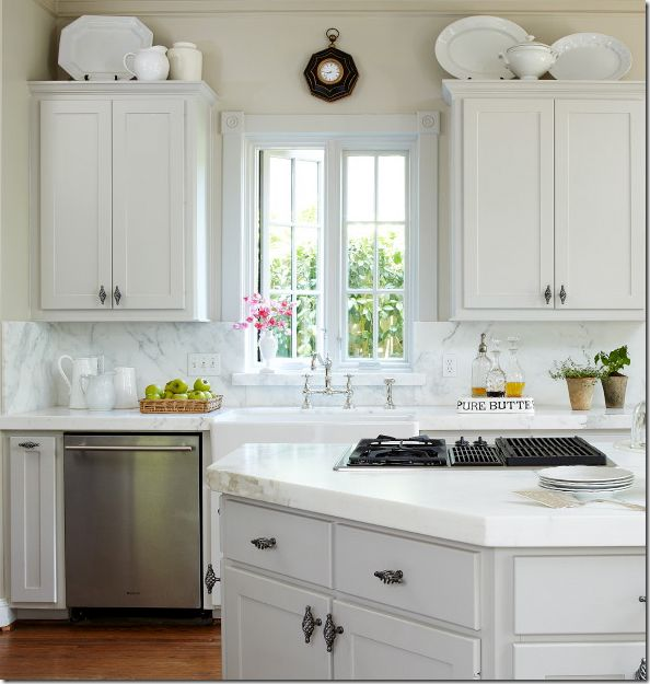 46 Best For The Kitchen Images On Pinterest Gray Cabinets With Br Hardware
