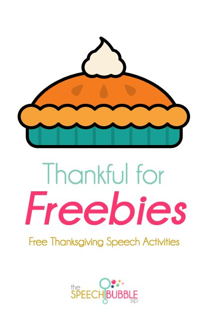 Looking to celebrate Thanksgiving in your speech class without hurting your wallet? Here are some great Thanksgiving themed freebies.