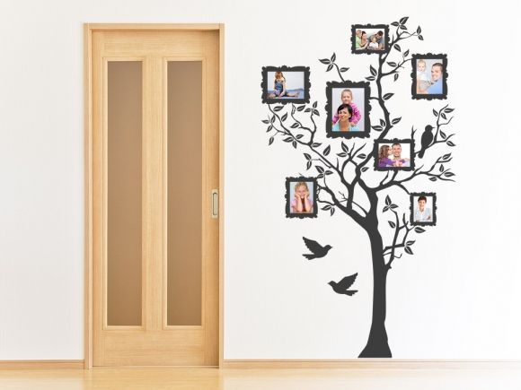 Wandtattoo Baum mit eigenen Bildern