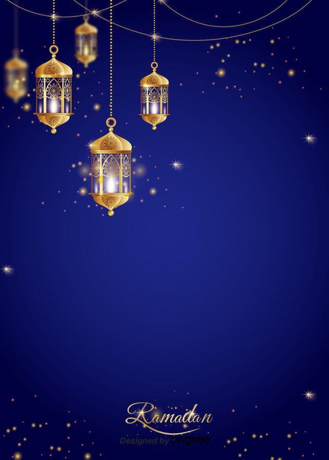 رمضان فانوس ضوء القمر الديكور خلفية زرقاء Ramadan Lantern Light Decorations Blue Background Images