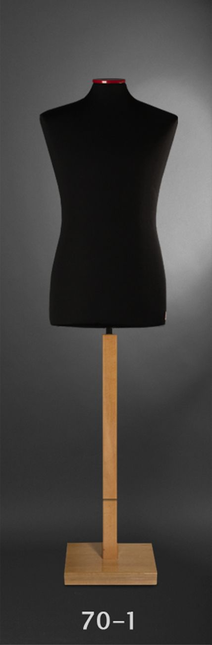 Male Bust Form - black