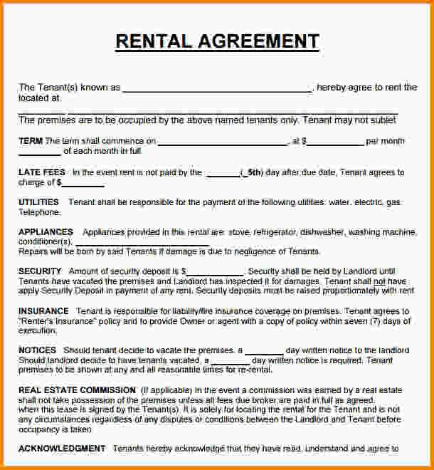 Image result for house rental agreement