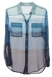 EquipmentBlue OmbreEquipment Blue, Fashion, Oxygen Boutiques, Style, Clothing, Blue Ombre, Ombre Shirts, Ties Dyes, Blue Ombré