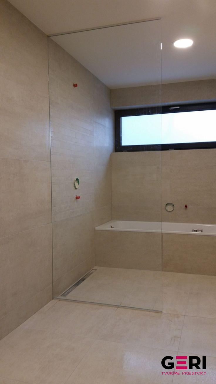 Sklenená sprchovacia fixná zástena, Brezno
