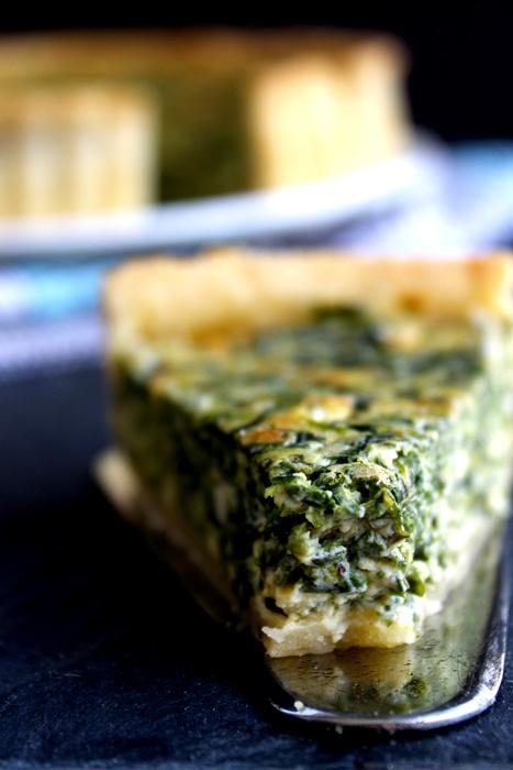 Smitten Kitchen's spinach quiche