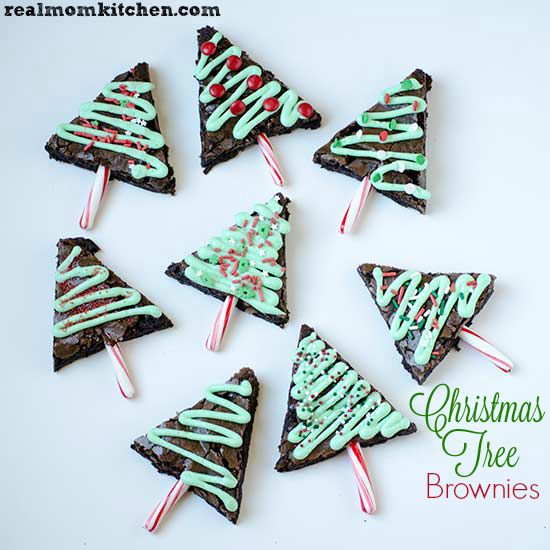 Christmas Tree Brownies   realmomkitchen.com