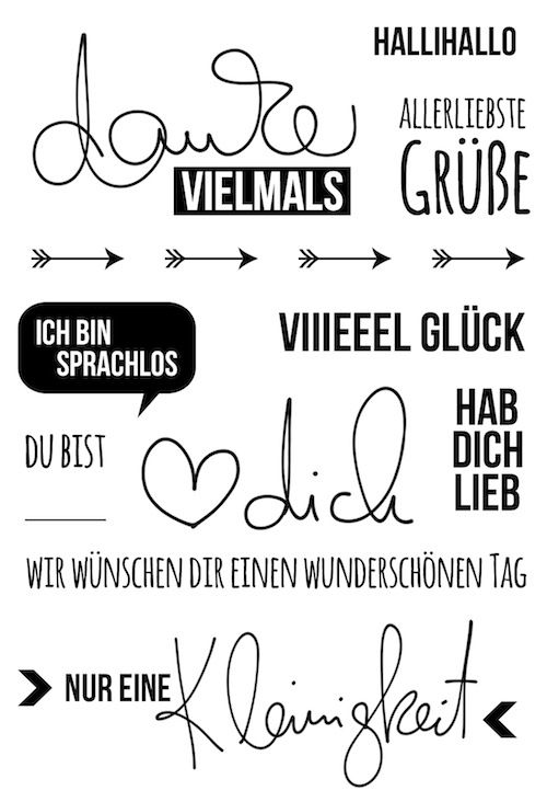 "Klartext Stempel ""danke vielmals"" von www.danipeuss.de #danipeuss #klartextstempel – Leyona Coffey"