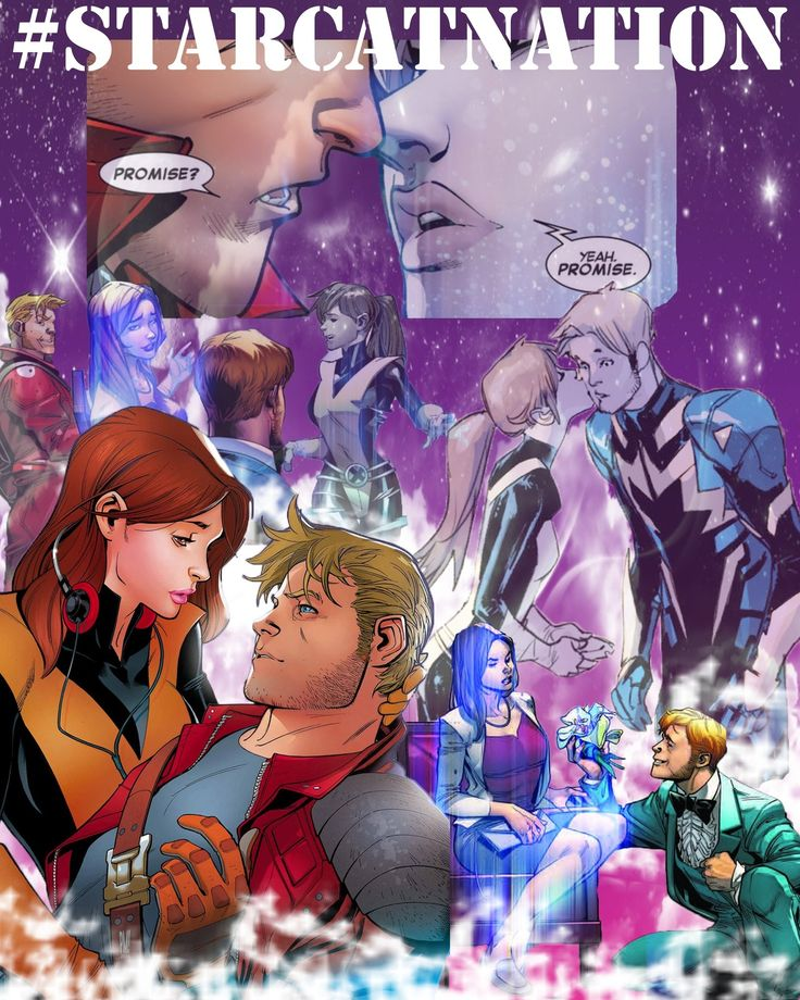 So Brain Michael Bendis made this fan art of Star Lord and Kitty! <3