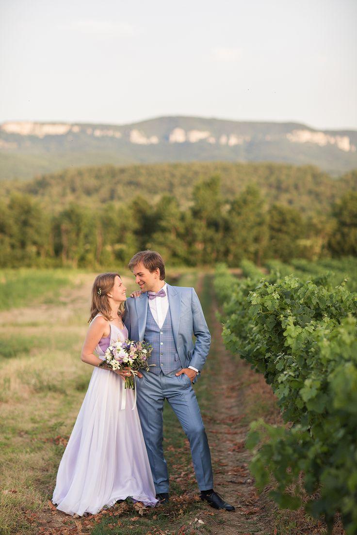 bridal - groom - vines - Provence - wedding in Provence - wedding planner: Laura Dova Weddings - www.lauradovaweddings.com Photography by Philip Andrukhovich