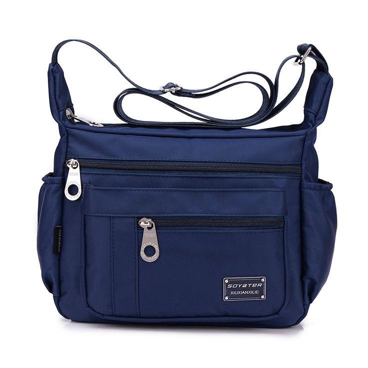 Fashionable Women Nylon Waterproof Bag Casual Outdoor Sports Single-shoulder Bag Crossbody Bag Dark Blue