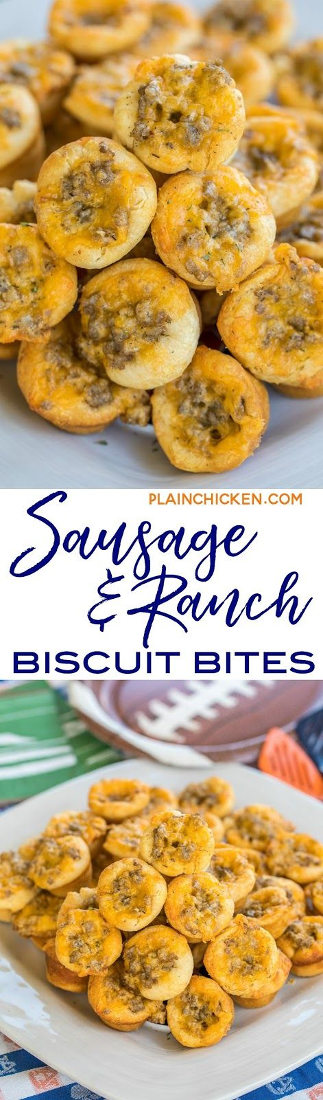 Sausage and Ranch Biscuit Bites - FOOTBALL FRIDAY - Plain Chicken