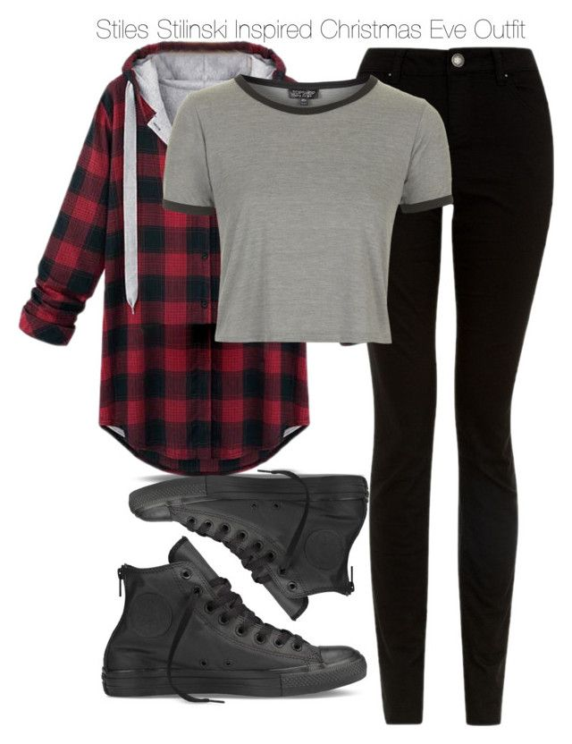 Teen Wolf - Stiles Stilinski Inspired Christmas Eve Outfit by staystronng ❤ liked on Polyvore