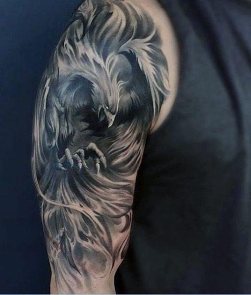 def5e92224cff Phoenix mens half sleeve tattoo | ԵɑԵԵօօՏ'☆ | Sleeve tattoos ...