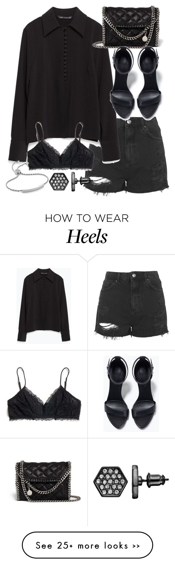 """Untitled #18877"" by florencia95 on Polyvore featuring Topshop, Zara, STELLA McCARTNEY, Madewell, Simply Vera and Monica Vinader"