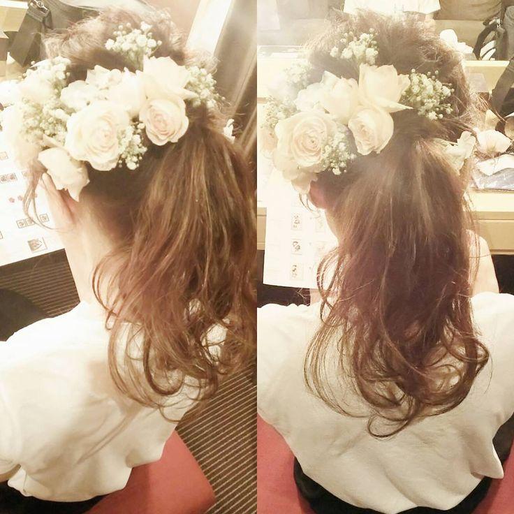 かわいいの王道♥好感度NO.1のポニーテールアレンジの花嫁ヘア特集* | marry[マリー]