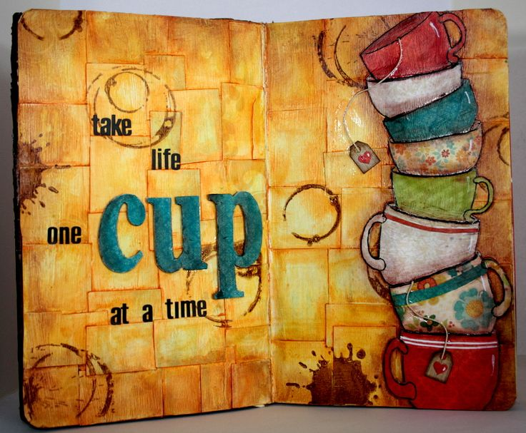 Clips-n-Cuts | Art Journal : Take life one cup at a time | http://www.clips-n-cuts.com