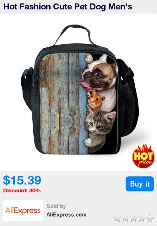 Hot Fashion Cute Pet Dog Men's Animal Lunch Bags for Boys Cat Insulated Lunch Bag Kids Child Thermal Lunch Box Bolsa Termica * Pub Date: 14:43 Apr 6 2017