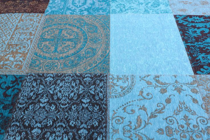 Patchwork Szőnyeg Enzo kék 240 x 170 cm  - Designer szőnyegek - Szőnyeg, modern szőnyegek, dizájner szőnyegek, magas szőnyegek, gyermek szőnyegek