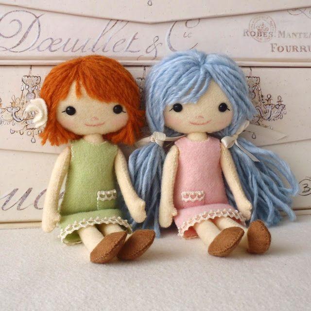 um sonho de cinderela: bonecas de feltro