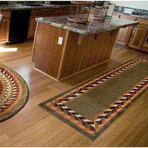Kitchen Runner Rug Colonial Mills Country Braided Reversible 8 X 10 Oval
