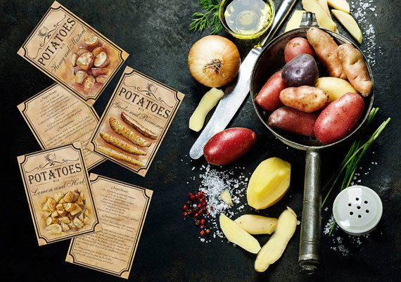 Recipe For Roasted Potatoes create a by BlueberryDreamDesign