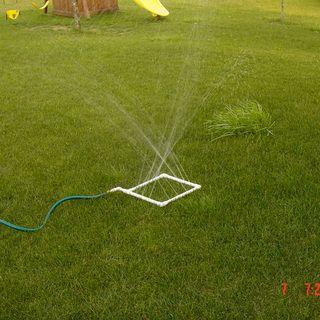 Homemade water sprinkler or even a soaker hose..