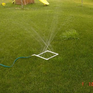 Homemade water sprinkler or even a soaker hose..