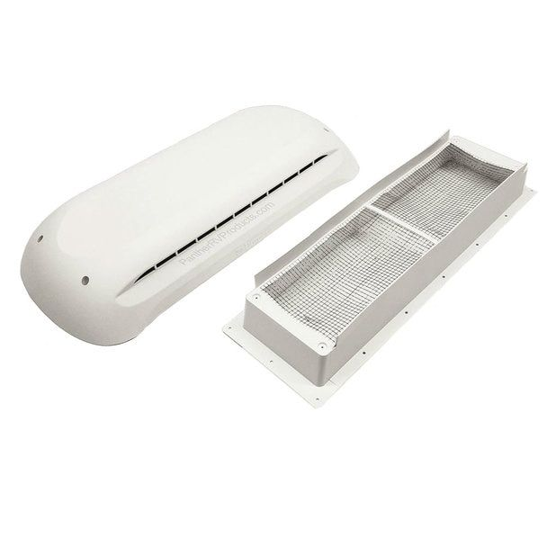 Dometic 3311236 000 Rv Refrigerator Vent Cover Base And Cap White Vent Covers Rv Refrigerator Roof Vent Covers