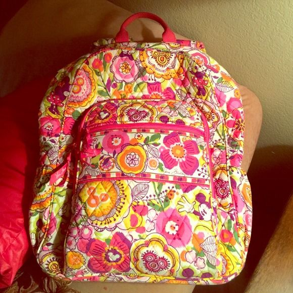 SUPER SALE🎉 Vera Bradley Minnie Backpack SALE 🎉 ONE week! I absolutely la la love this print! It features Mickey, Minnie, and a bunch of beautiful flowers! Totally perf for the upcoming Spring 15' semester😍 This backpack is spacious and durable, while also providing comfortability with padded straps. I only used this bag for one semester and totally loved it! This backpack shows no sign of wear, with the exception of brown marks on the bottom of the bag from being set on the floor. Please…